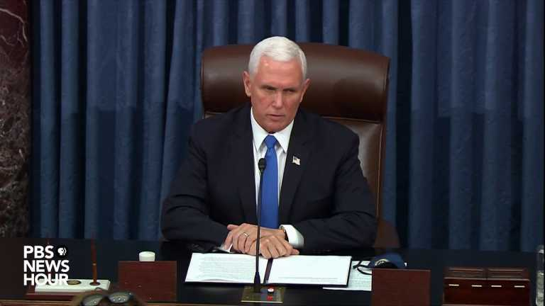 WATCH: 'Let's get back to work,' Pence urges Senate