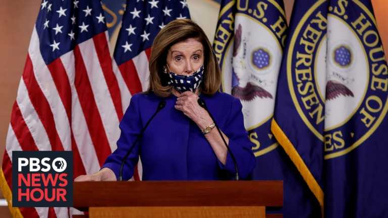 WATCH LIVE: Pelosi speaks as races remain tight in battleground states