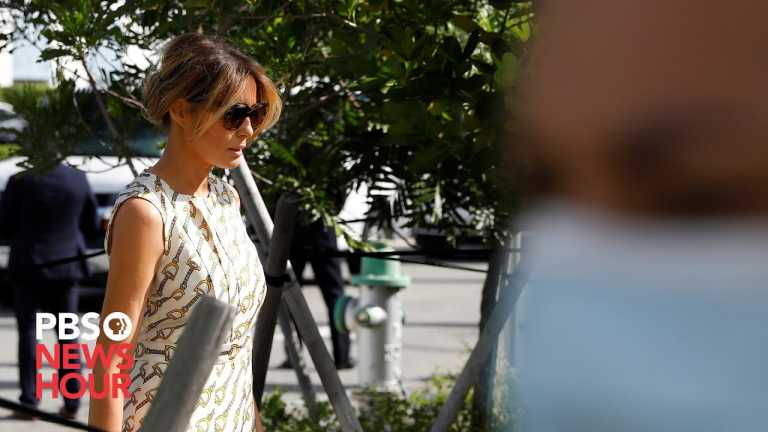 WATCH: First lady Melania Trump casts ballot in Florida
