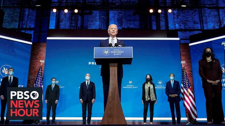 Biden formally introduces his national security team to the nation