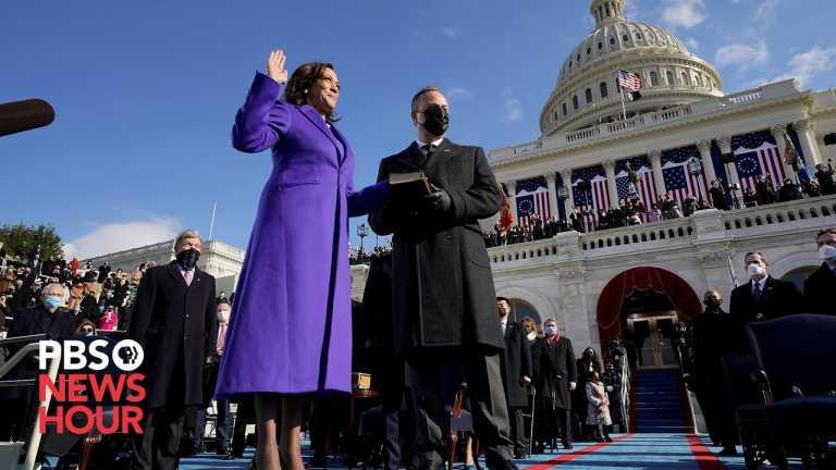 WATCH: Kamala Harris sworn in as vice president