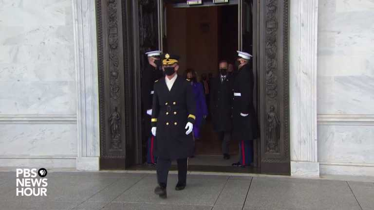 WATCH: Biden and Harris honor military in inauguration Pass in Review ceremony