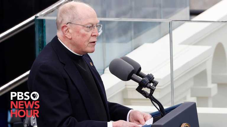 WATCH: Rev. Leo O'Donovan offers invocation at Biden inauguration