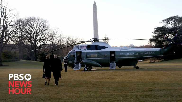 WATCH: Donald and Melania Trump depart White House for the last time on Biden's Inauguration Day