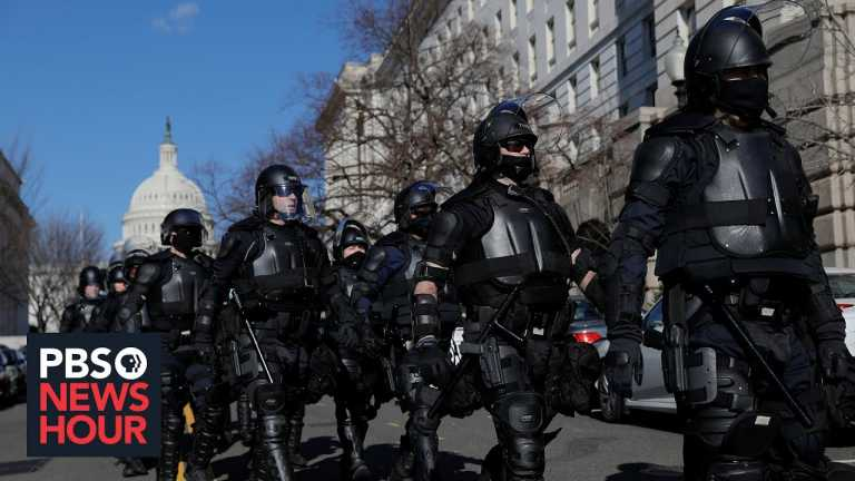 Unprecedented security in the nation's capital on the eve of the inauguration