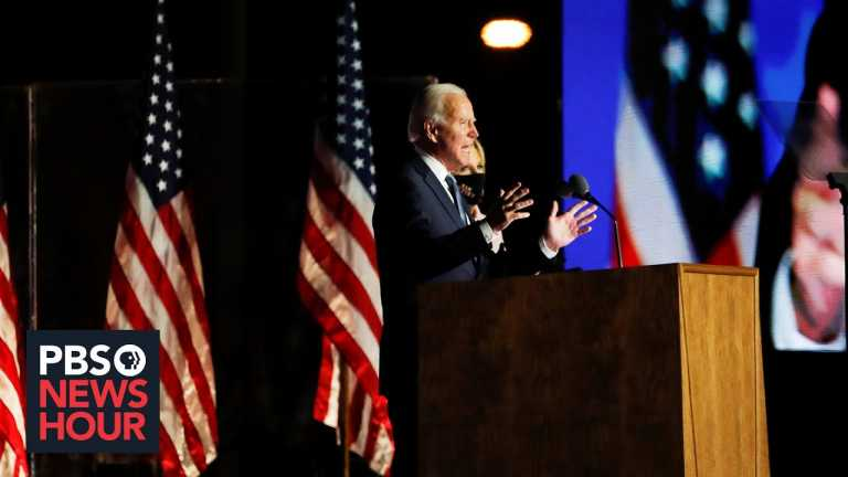 Trump lashes out at vote counting as Biden urges patience