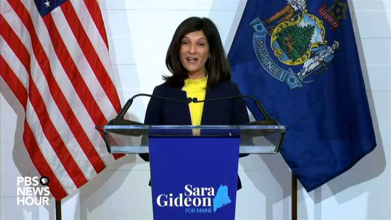 WATCH: Sarah Gideon gives concession speech in Maine Senate race