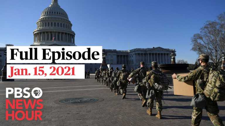 PBS NewsHour full episode, Jan. 15, 2021
