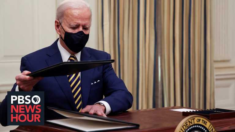 Biden aims to counteract the economic damage wrought by COVID-19