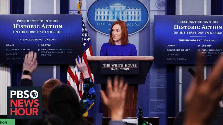 New White House Press Secretary Jen Psaki on Biden's first 100 days