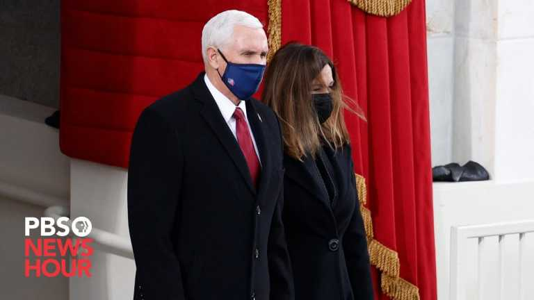 WATCH: Vice President Mike Pence arrives at U.S. Capitol for Biden's inauguration