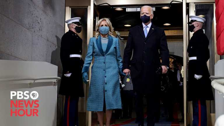 WATCH: President-elect Joe Biden arrives at U.S. Capitol for inauguration ceremony