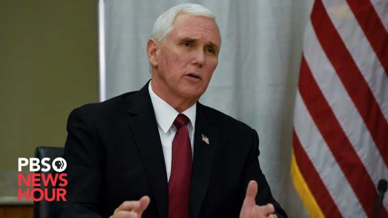WATCH: Vice President Pence holds a roundtable discussion on vaccine distribution