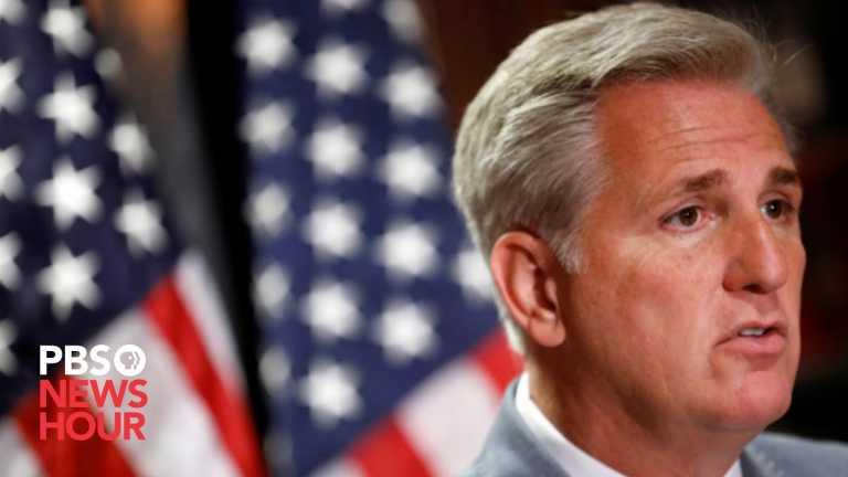 WATCH: House Minority Leader Kevin McCarthy holds weekly news briefing