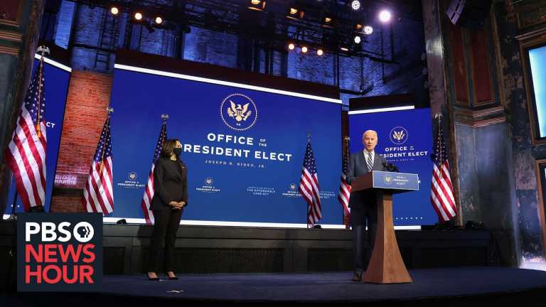 Biden says transition is underway, even as Trump repeats unfounded claims