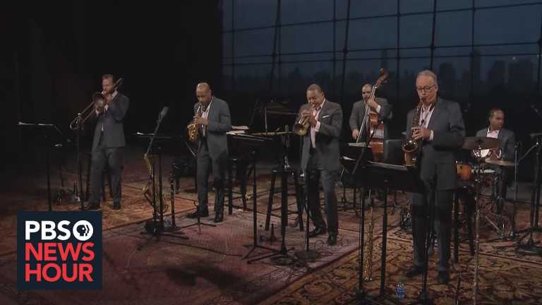 Wynton Marsalis meets the moment with jazz and a focus on the nation's founding principles
