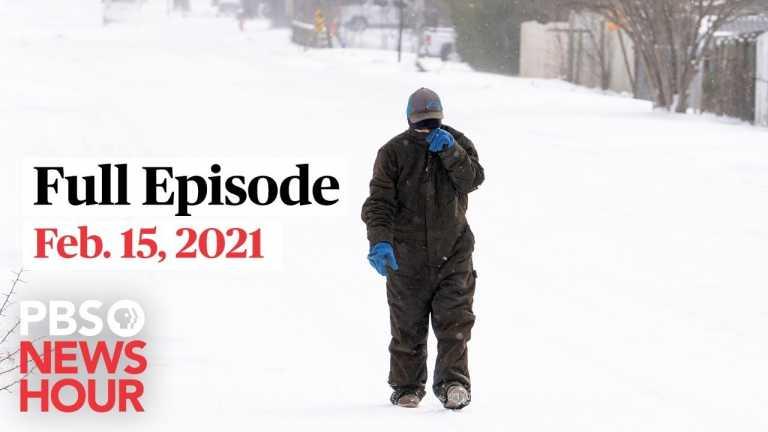 PBS NewsHour West live episode, Feb. 15, 2021