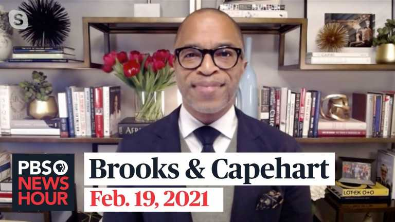Brooks and Capehart on President Biden's first month in office and Rush Limbaugh's legacy