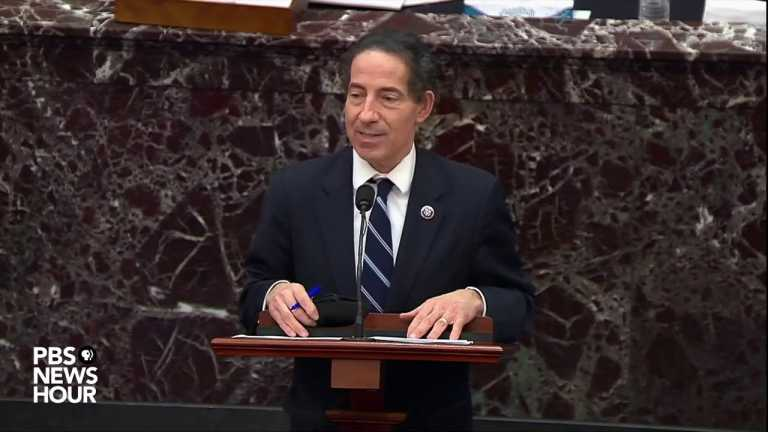 WATCH: Rep. Raskin reads statement alleging Trump expressed sympathy for Capitol rioters