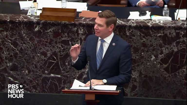 WATCH: Swalwell shows how Trump's election attacks influenced Michigan protesters