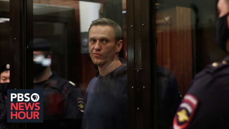 Calls for mass protests in Russia after opposition leader is sentenced to prison