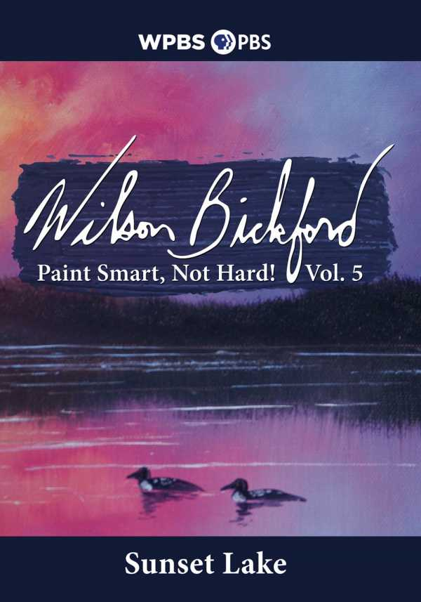 Painting-With-Wilson-Bicford-Sunset-Lake