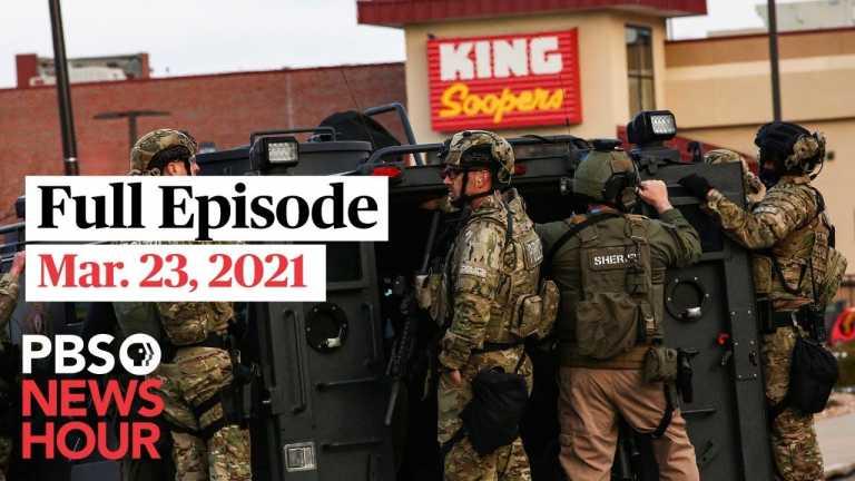 PBS NewsHour live episode, Mar. 23, 2021