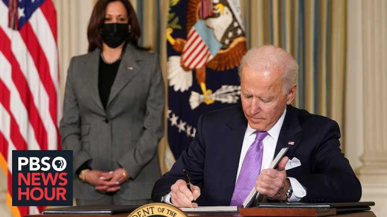 Biden's latest executive actions take on vaccine distribution, racial inequality