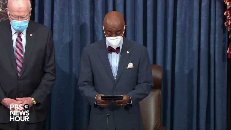 WATCH: Chaplain Barry Black leads Senate in prayer | Second Trump impeachment trial