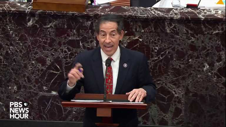 WATCH: Raskin tells Trump's team he should testify if they're dissatisfied with evidence