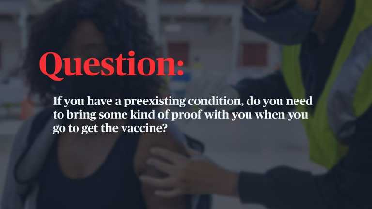 WATCH: What should you bring to vaccine appointments?