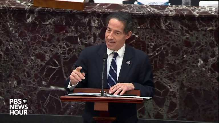 WATCH: Rep. Raskin delivers closing remarks for Trump impeachment trial