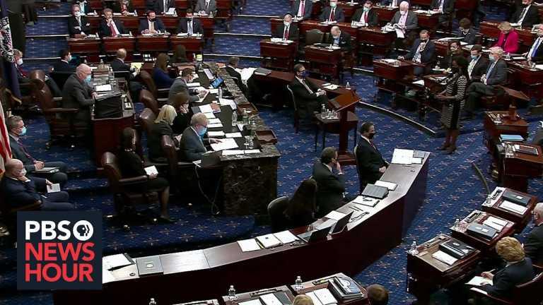 Senate votes to move forward with Trump's impeachment trial