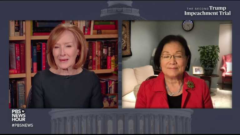 WATCH: Sen. Hirono says Republicans are very guarded in their reactions during impeachment trial