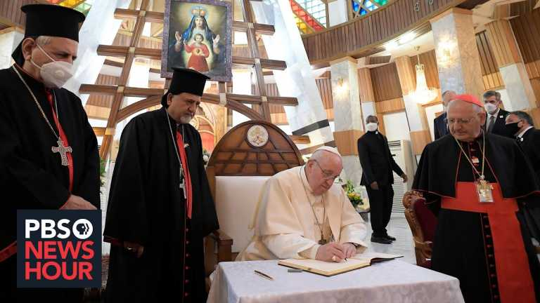 Pope Francis makes first-ever papal visit to Iraq amid violent threats and a deadly virus