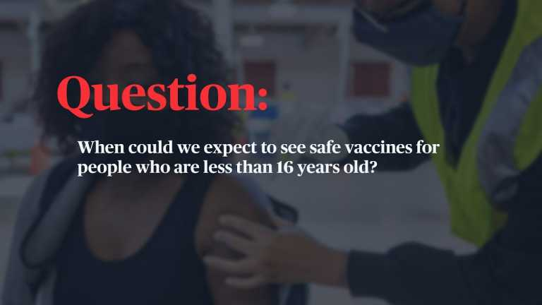 WATCH: When will kids under 16 be eligible for a COVID-19 vaccine?
