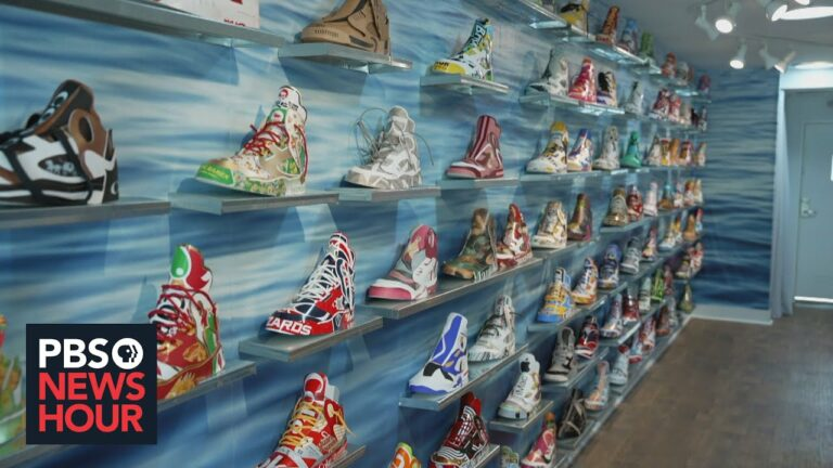 DC art exhibit makes shoes from trash in nod to the 'Great Shoe Spill of 1990'