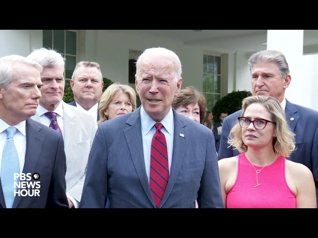 """WATCH: Biden says """"we have a deal"""" on bipartisan infrastructure plan"""