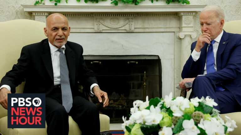 WATCH: Biden vows 'sustained' help after meeting with Ghani as Afghanistan drawdown nears