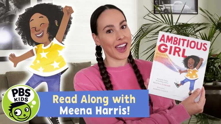 READ ALONG with Meena Harris | Ambitious Girl | PBS KIDS