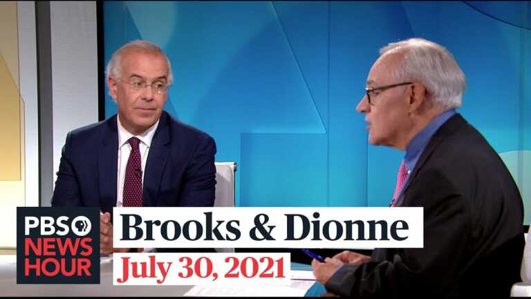 Brooks and Dionne on vaccine hesitancy, Capitol Police testimony, infrastructure