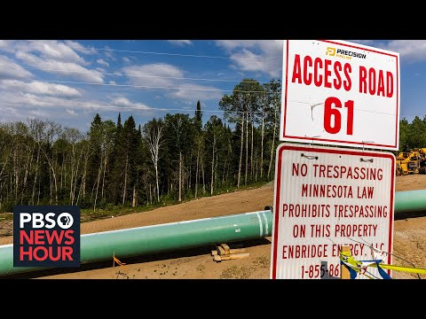 Pipeline battle brews in Minnesota between Indigenous tribes and a major oil company