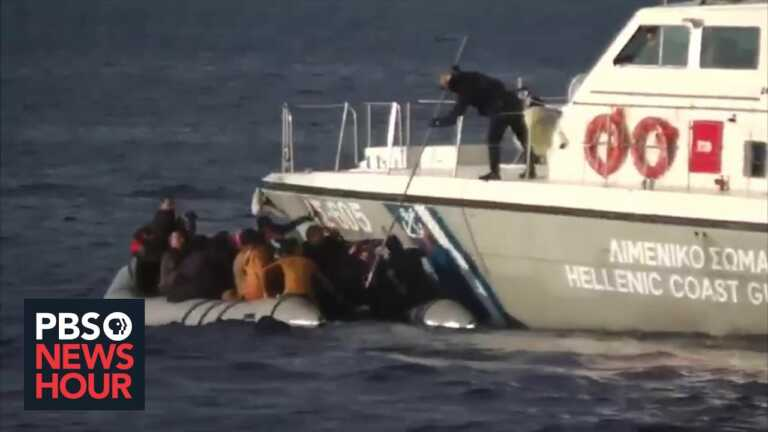 Migrants left adrift at sea after boat pushback from Greek coast guard