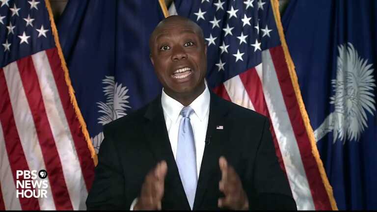 WATCH: Republican Sen. Tim Scott responds to Biden's joint address