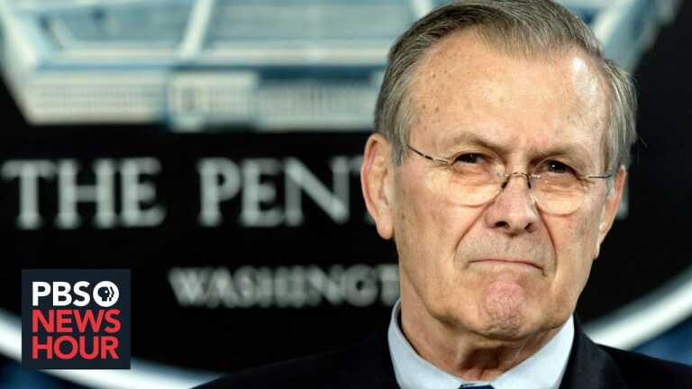 Donald Rumsfeld, architect of wars in Iraq and Afghanistan, dies at 88