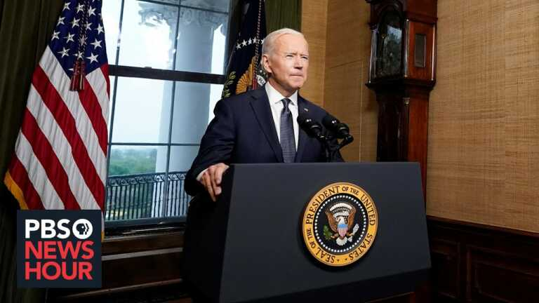 Biden says U.S. will still 'hold Taliban accountable' after troops leave Afghanistan