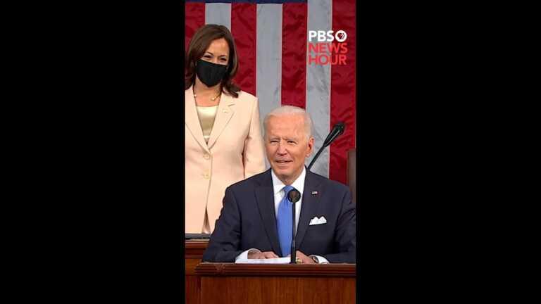 """WATCH: Biden recognizes """"Madam Speaker, Madam Vice President""""   Biden address to Congress   #Shorts"""