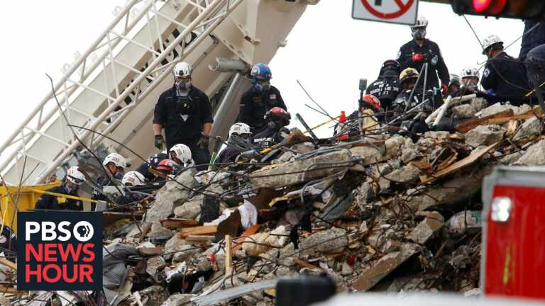 News Wrap: Death toll rises to 16 in Surfside condo collapse
