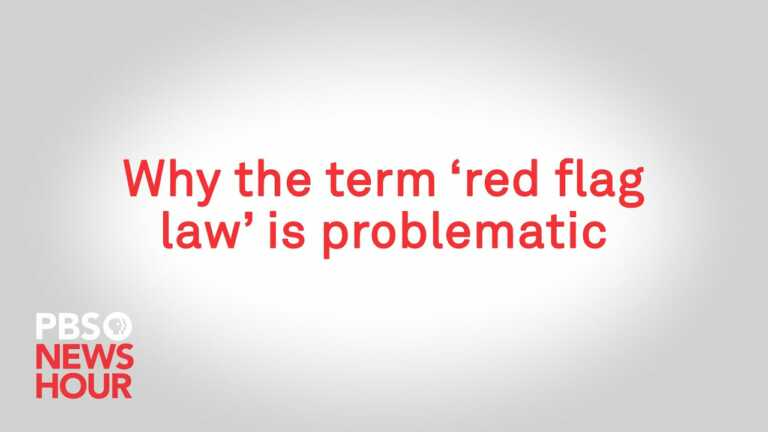 WATCH: Why the term 'red flag law' is problematic