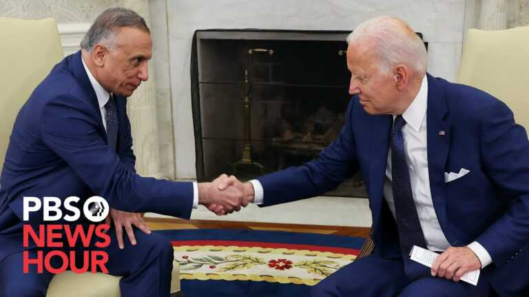 WATCH: Biden, Iraqi prime minister announce end of U.S. combat mission in Iraq